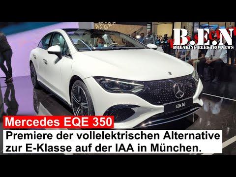 Mercedes EQE 350 auf der IAA: Premiere der vollelektrischen Alternative zur E-Klasse in München.