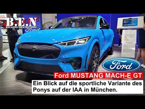 Ford MUSTANG MACH-E GT: Ein Blick auf die sportliche Variante des Ponys auf der IAA in München.