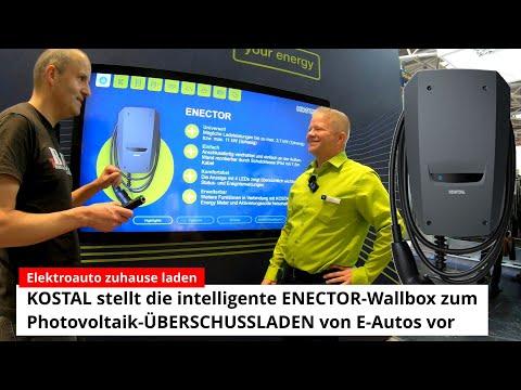 ELEKTROAUTO zuhause laden: KOSTAL stellt die intelligente ENECTOR-Wallbox zum PV-ÜBERSCHUSSLADEN vor
