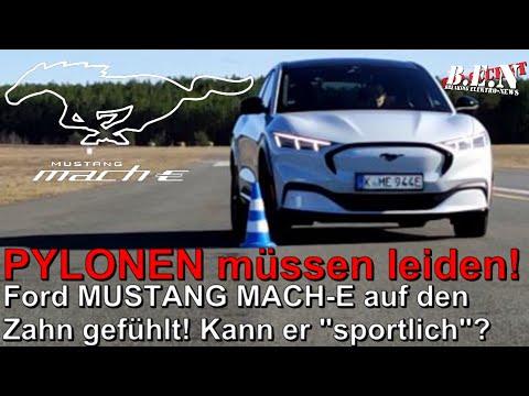 EXTREM-TEST des Ford MUSTANG Mach-E: Senior außer Rand und Band = Pylonen müssen leiden 😜