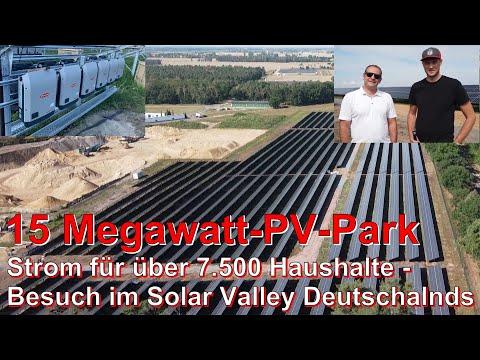 15 MEGAWATT Photovoltaik-Anlage oder Besuch bei den SONNENKÖNIGEN von Sachsen-Anhalt = SOLAR VALLEY😎
