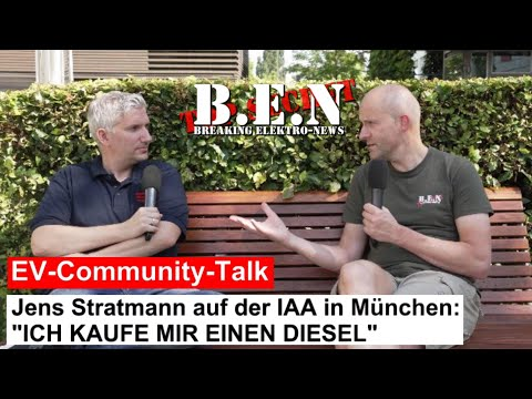 """EV-Community-Talk: Jens Stratmann sagt """"ICH KAUFE EINEN DIESEL"""" und spricht über die ED1000 und IAA"""